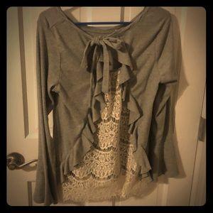 Fun gray sweater